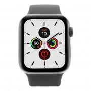 Apple Watch Series 5 - caja de acero inoxidable en negro 44mm - correa sport negra (GPS+Cellular) refurbished
