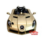 Top Gear Kid 12V Mercedes Benz SLR McLaren Ride on Car (Gold)
