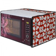Glassiano Microwave Oven Cover for LG 20 Litre Solo Microwave Oven MS2043DB Black