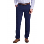 Louis Raphael Micro Stripe Flat Front Slim Fit Dress Pants BLUE