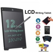 Truom LCD Writing Tablet 12.5 Inch Drawing Board Erasable Notepad Paperless Stationery Doodle Slate Electronic Blackboard (Black)
