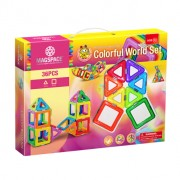Joc Magnetic Educativ 3D Magspace Colorful World - 36 piese