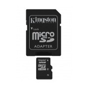 Memoria Flash Kingston, 32GB microSDHC Clase 4, con Adaptador