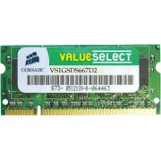 VS1GSDS667D2 - 1GB SO DDR2 667 Corsair