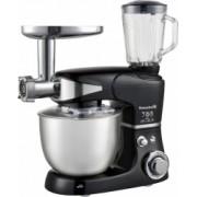 Robot de bucatarie multifunctional All-in-one Hausberg HB-7605 1000 W mixer/blender/tocat carne Negru