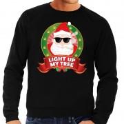 Shoppartners Foute kersttrui zwart Light Up My Tree voor heren