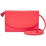 Fossil Women Pink Genuine Leather Messenger Bag