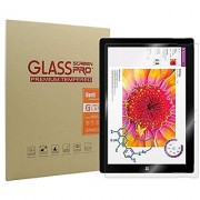 Microsoft Surface 3 Screen Protector - Rerii Tempered Glass Screen Protector for Microsoft Surface 3 9H Hardness 0.3mm Thickness Real Tempered Glass