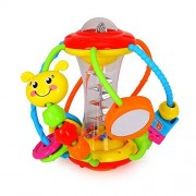 KONIG KIDS Baby Sensory Discover Shake & Spin Activity Ball Learning Toy Multicolor