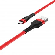 HOCO X34 Surpass 2.4A Micro-USB Date Sync Charging Cable for Huawei Samsung - Red