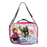 Disney Frozen 10 Inch Rectangle Lunch Bag with Shoulder Strap - Pink