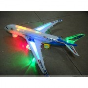 Airbus Plane Battery Operated with Light Music Bump Go Rotation Toy for Kids