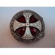 Hebilla escudo celta rojo