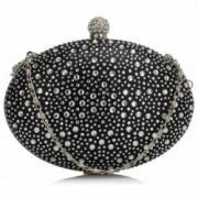 Geanta clutch negru din metal Leesun de dama LSE00311