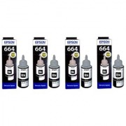 Epson T664 Black Ink Pack of 4
