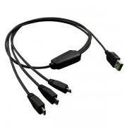 ROLINE 11.02.8306 :: ROLINE USB 2.0 Charging кабел, 1x Type A - 3x Micro B, M/M, 0.8 м