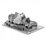 DIY 3D rompecabezas montado modelo de juguetes sydney opera - plata
