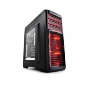 Кутия DeepCool KENDOMEN RD, ATX/MicroATX/MINI-ITX, USB3.0, 2× USB2.0, Audio(HD), Mic, черна, без захранване