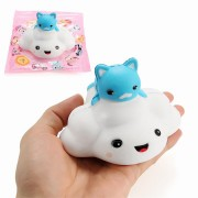 Squishy Cloud Cat 11cm Slow Rising With Packaging Collection Gift Decor Soft Squeeze Toy