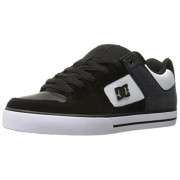 DC Men's Pure SE Skateboarding Shoe, Black/White, 6 D US