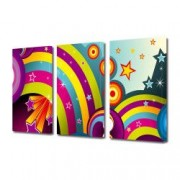Tablou Canvas Premium Abstract Multicolor Curcubeu In Culori Neobisnuite Decoratiuni Moderne pentru Casa 3 x 70 x 100 cm