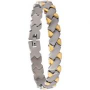 Bijou Vertex Cross Link Stainless Steel Bracelet