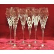 6 flûtes à champagne Super taille moderne