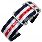 20mm 22mm Nylon Watchband for Pebble Time / Steel/Round Smart Watch Band NATO Army Military Fabric Strap Multi Colors + Tool