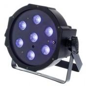 Cameo Flat PAR Can 1 UV 7 x 3W IR BK