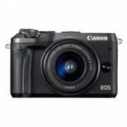 Canon EOS M6 systeemcamera Zwart + 15-45mm IS STM
