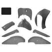 Beplatingset 8 delig Fosti Retro Kleur Mat zwart LY-027