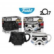 Set Star Wars Taza Ceramica Funko Pop Darth Vader Stormtrooper