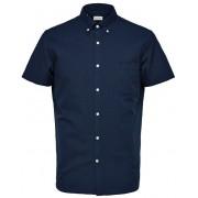 SELECTED HOMME Pánská košile Regcollet Shirt Ss W Noos Moonlit Ocean L