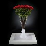 Aranjament floral VASE SERENA trandafiri rosii, 125cm