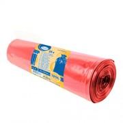 Vrecia na odpadky červené 70x110cm, 120 l, Typ 60 [25 ks]
