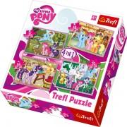 Trefl Puzzle Slagalica 4u1 Ponies Holiday (34153)