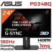 ASUS ROG SWIFT PG248Q; 24'' FHD (1920x1080) Gaming monitor; 1ms; up to 180Hz; DP; HDMI; USB3.0 ; G-SYNC