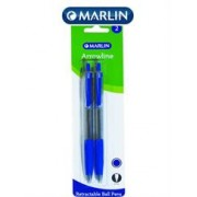 Marlin Arrowline Retractable Pens 2 Blue, Retail