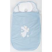Sac de dormit nou nascut cu perna pt formarea capului BEBEDECO 0-3 luni SOMN USOR bleu-SBNN06s
