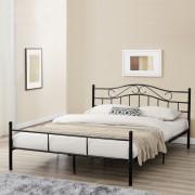 """[en.casa] Kovová postel """"Florenz"""" HTMB-180B 180x200 cm černá"""