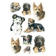 Merkloos 27x Honden/puppy dieren stickers