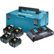 LXT set u koferu Makpac 3, BL1840Bx 4 kom, DC18RD PUNJAC