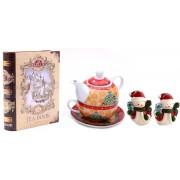 Tea for Santa Decoratiuni de Craciun din Ceramica