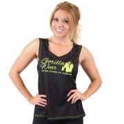 Gorilla Wear Odessa Cross Back Tank Top - Black/Neon Lime - M