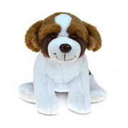 Puzzled St. Bernard Dog Super - Soft Stuffed Plush Cuddly Animal Toy Theme 7.5 Inch Unique Huggable Loveable New Friend Gift (5345)