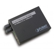 PLANET 10/100Base-TX to 100Base-FX (ST) Bridge Media Converter, LFPT Supported
