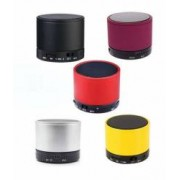 Boxa Portabila Wireless cu Bluetooth FM USB Slot Micro SD AUX + microfon incorporat si LED culoare Alb