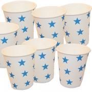 Papír pohár 10 db/cs - kék csillagos