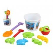 Merkloos Strandspeelgoed emmer met vissenprint met accessoires voor jongens/meisjes/kinderen