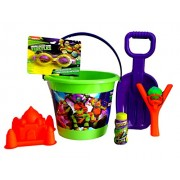 Teenage Mutant Ninja Turtles Fun in The Sun! JUMBO Teenage Mutant Ninja Turtle Sand Bucket & Shovel, Sand Mold, Water Ball Sling Shot, & Teenage Mutant Ninja Turtles Swim Goggles~7 Piece Set